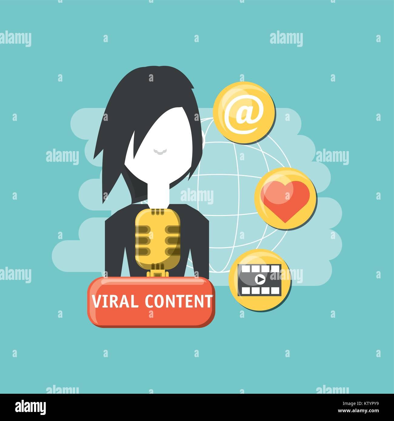 Diseño de contenido viral Imagen De Stock