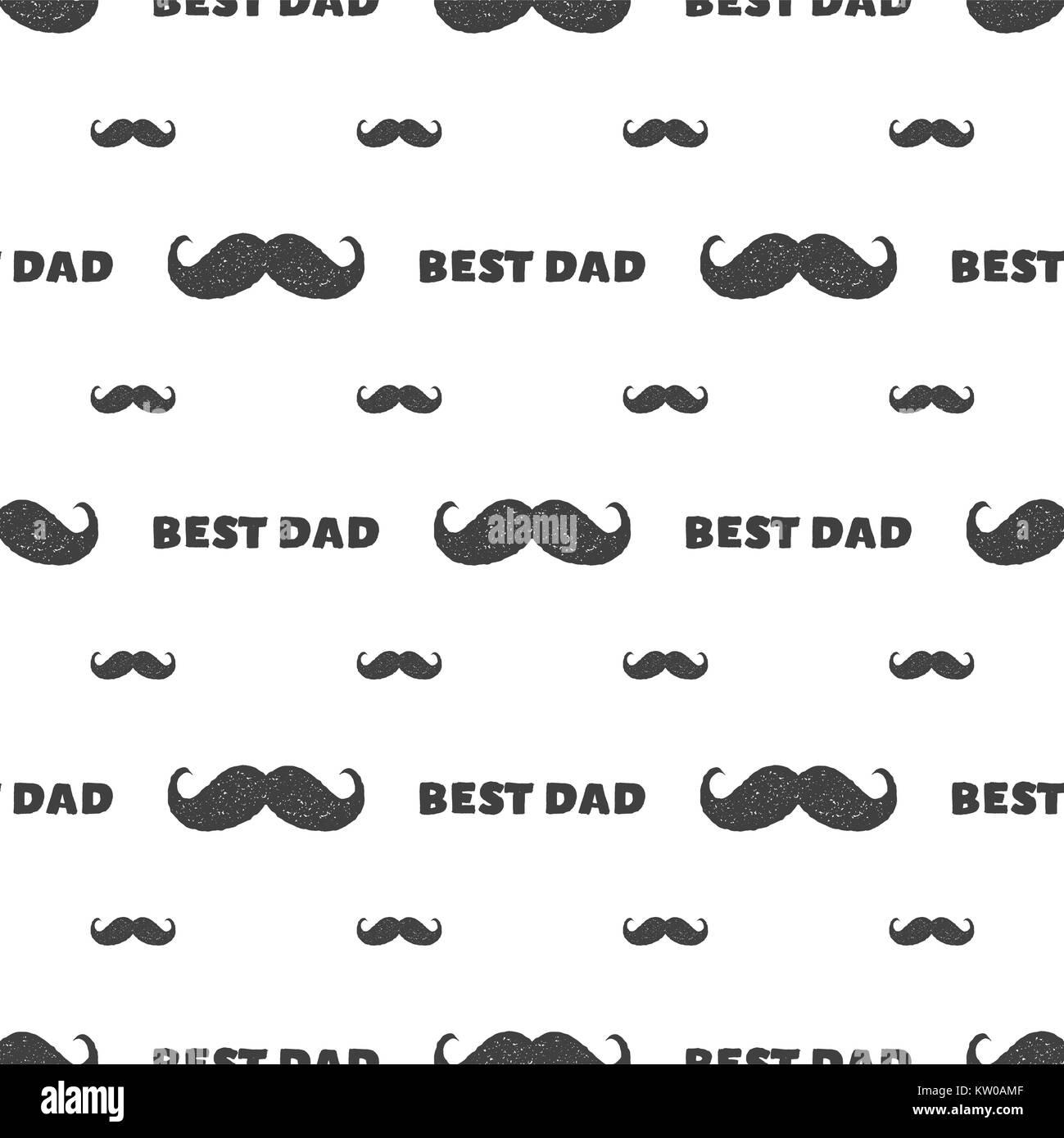 D a del padre retro perfecta pauta con el bigote y la for Papel tapiz de patron para el pasillo