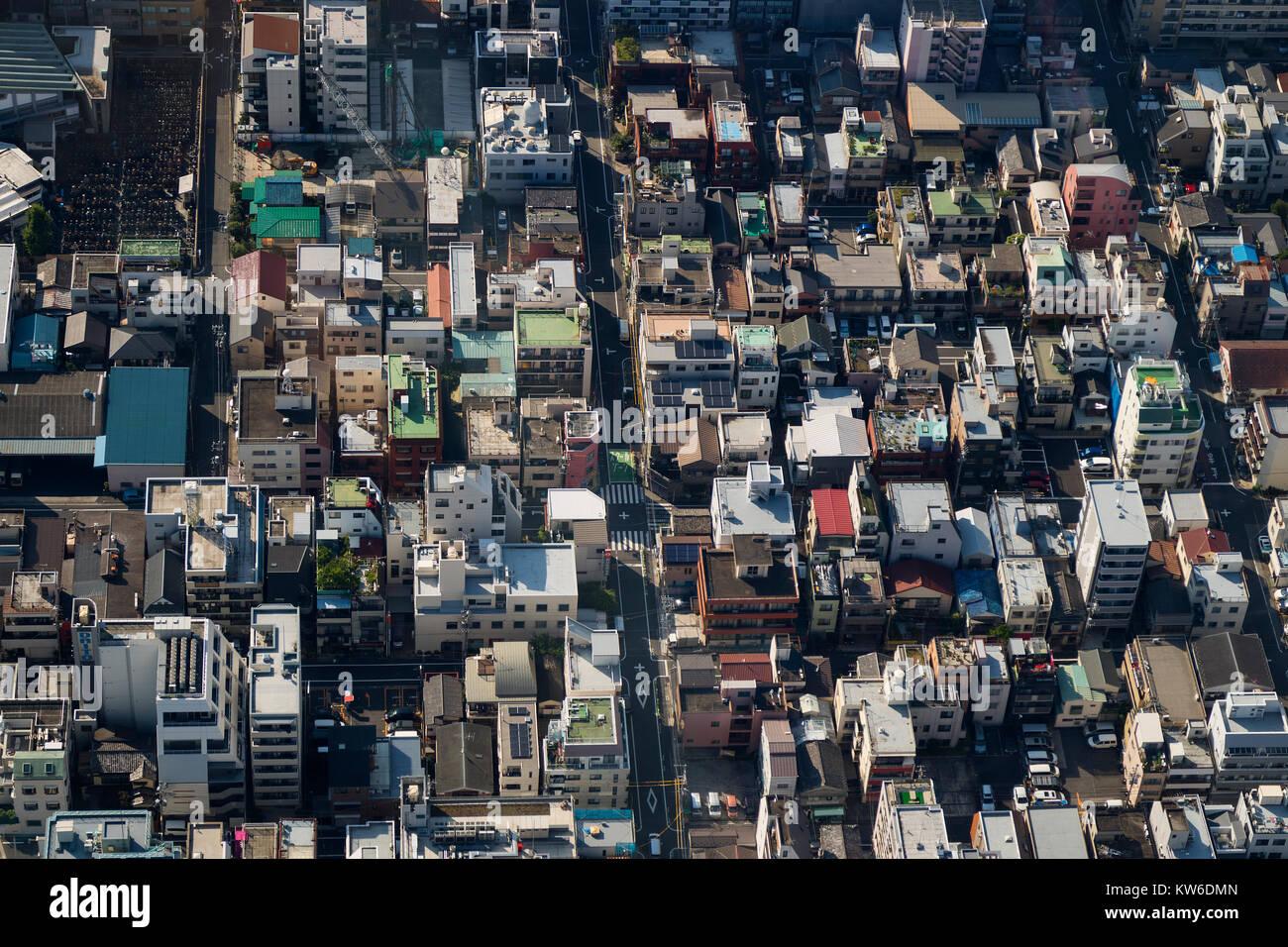 Tokio - Japón, 19 de junio de 2017: Vista aérea de Tokio visto desde la torre Sky Tree Imagen De Stock
