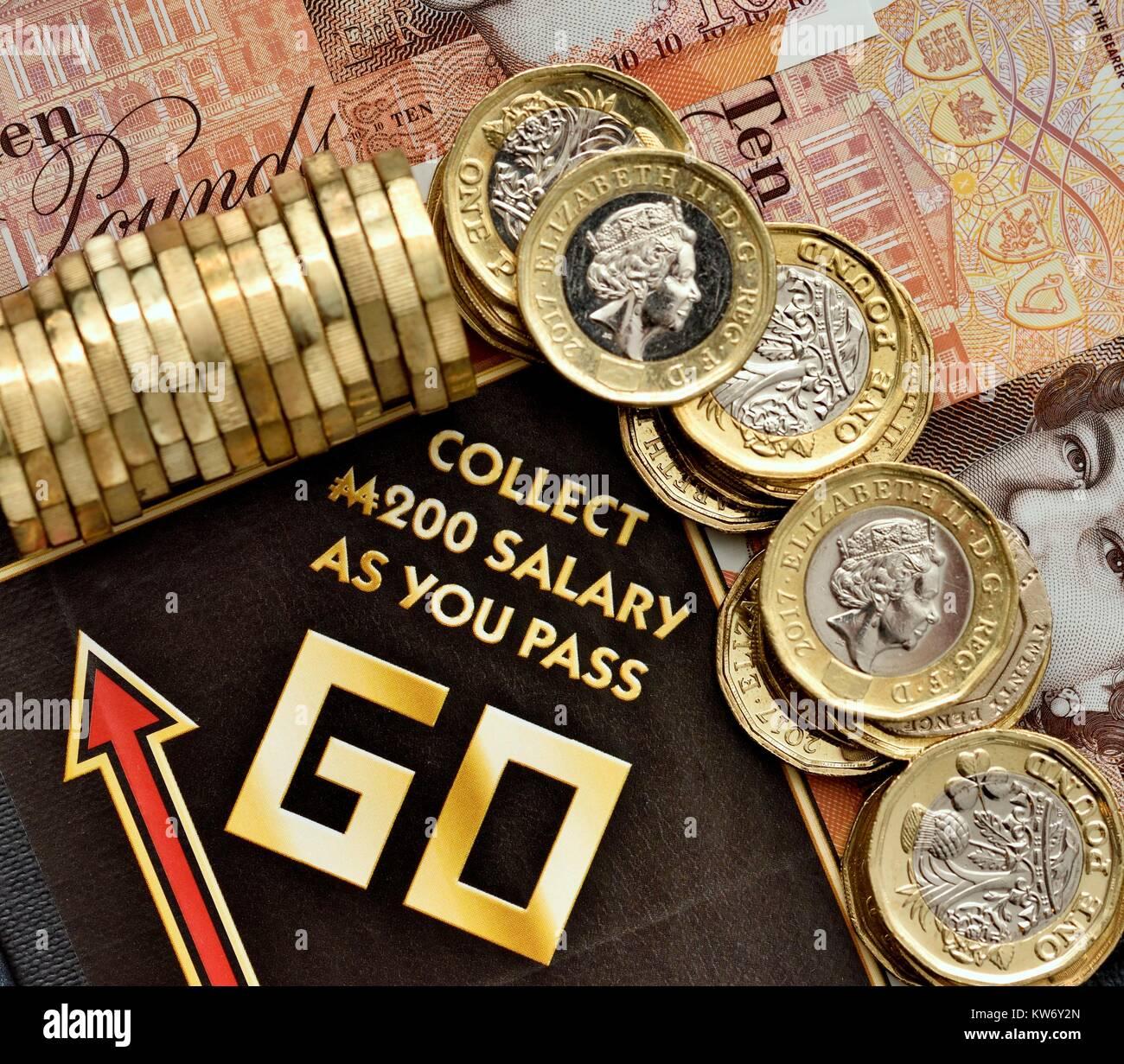Pagar sueldos de aumento de salario aumento concepto Imagen De Stock