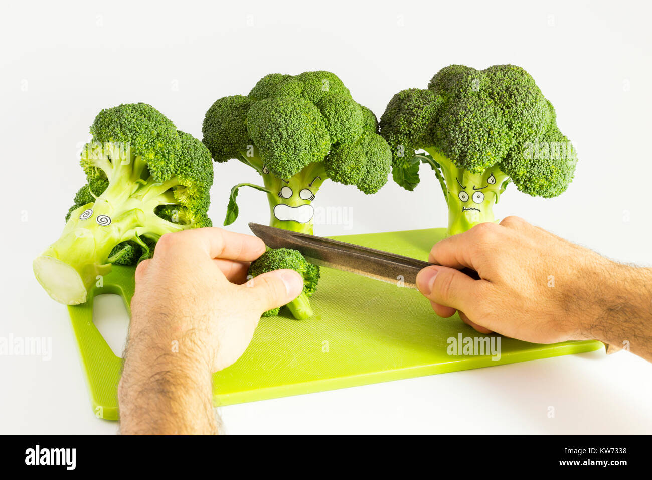 Broccoli Cartoon Style Imágenes De Stock & Broccoli