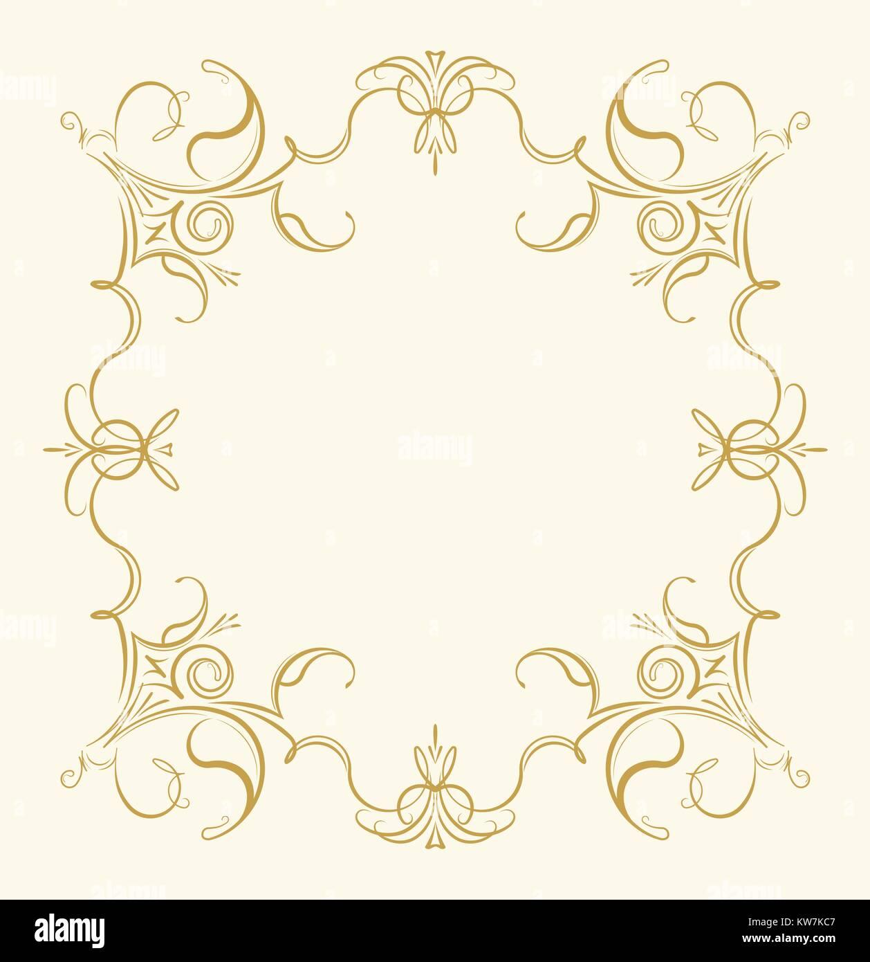 Marco floral ornamental Vintage en tonos suaves para tarjetas de ...