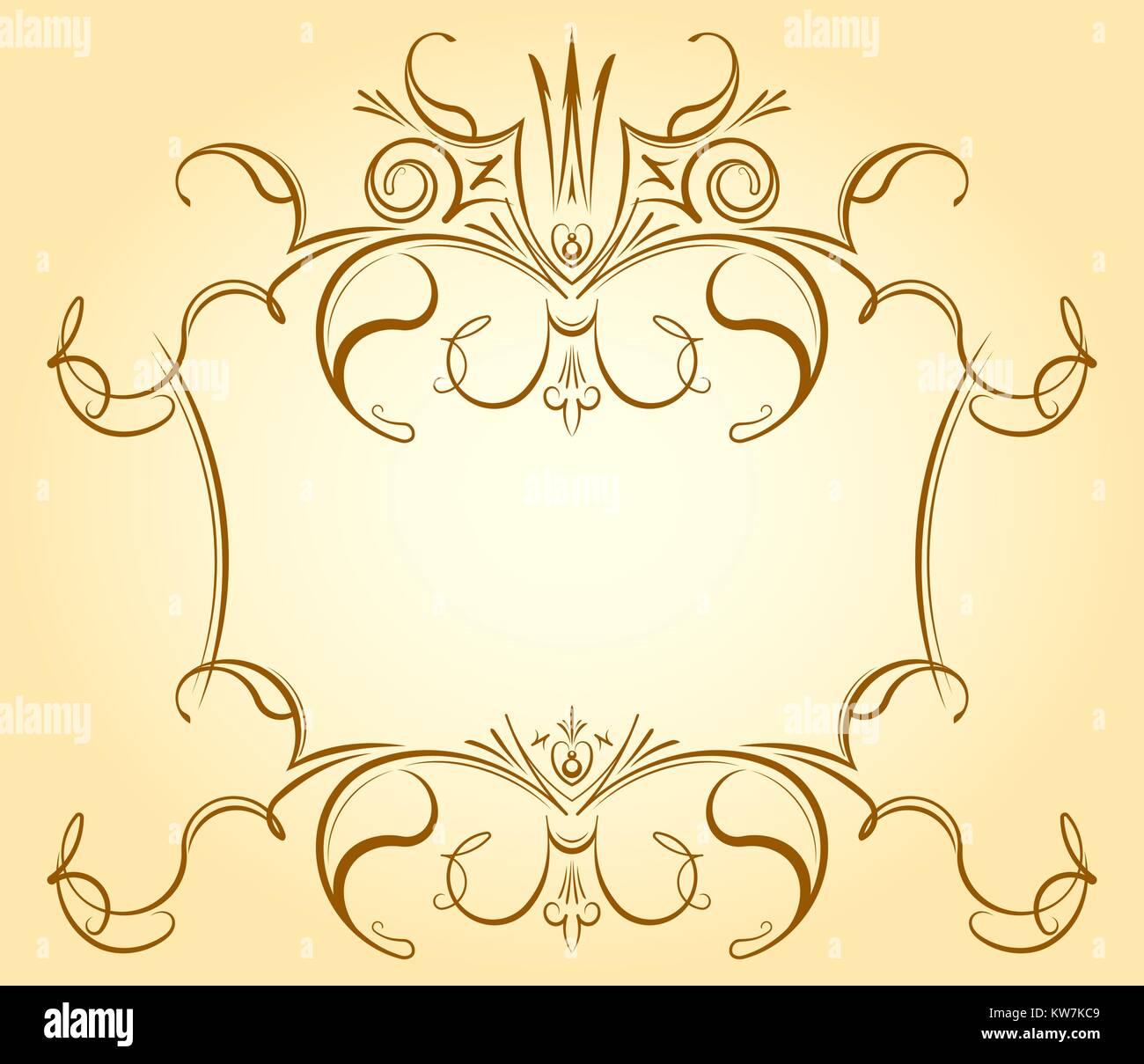 Vintage marco floral ornamentales con corona en suaves tonos para ...