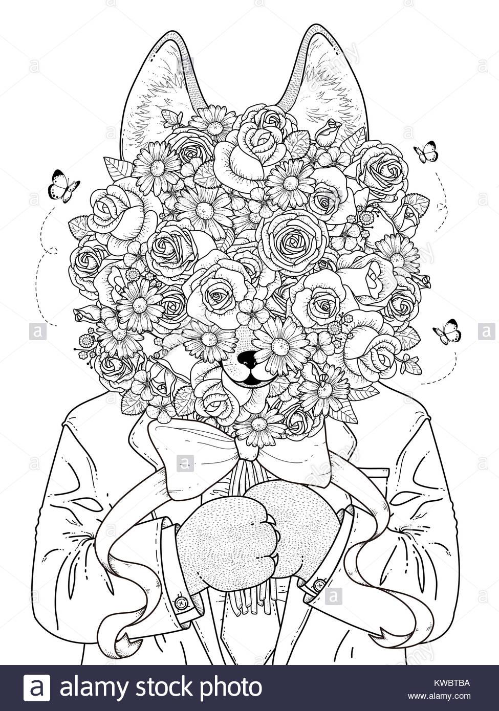 Dorable Rosa Para Colorear Páginas Frontera Friso - Dibujos Para ...
