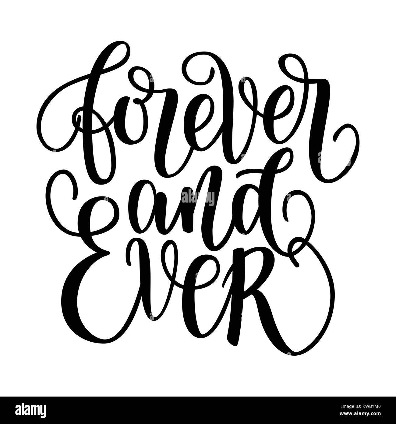 Por Siempre Y Para Siempre En Blanco Y Negro Las Letras