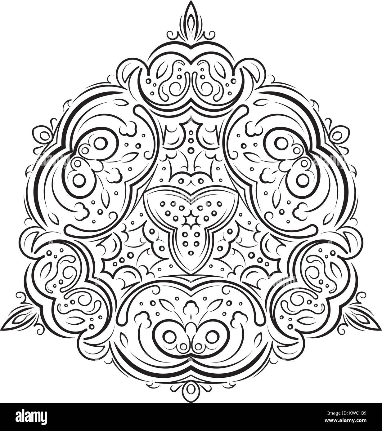 Abstract Triángulo Inusual Ronda Ronda Decoración Floral Lace