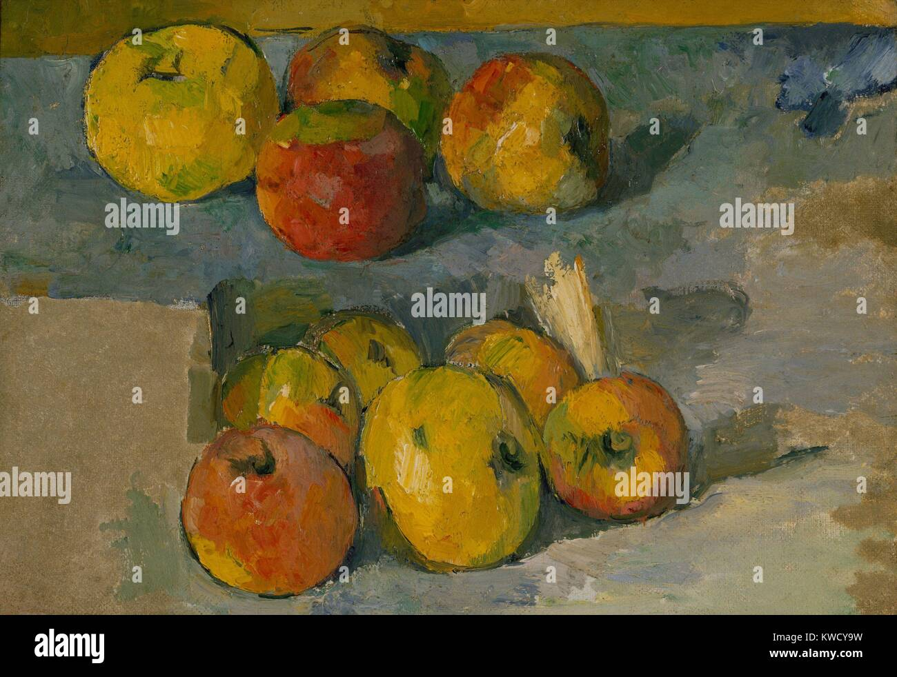Las manzanas, por Paul Cezanne, 1878-79 o 1883-87, Francés postimpresionista pintura, óleo sobre lienzo. Distribuidor Foto de stock