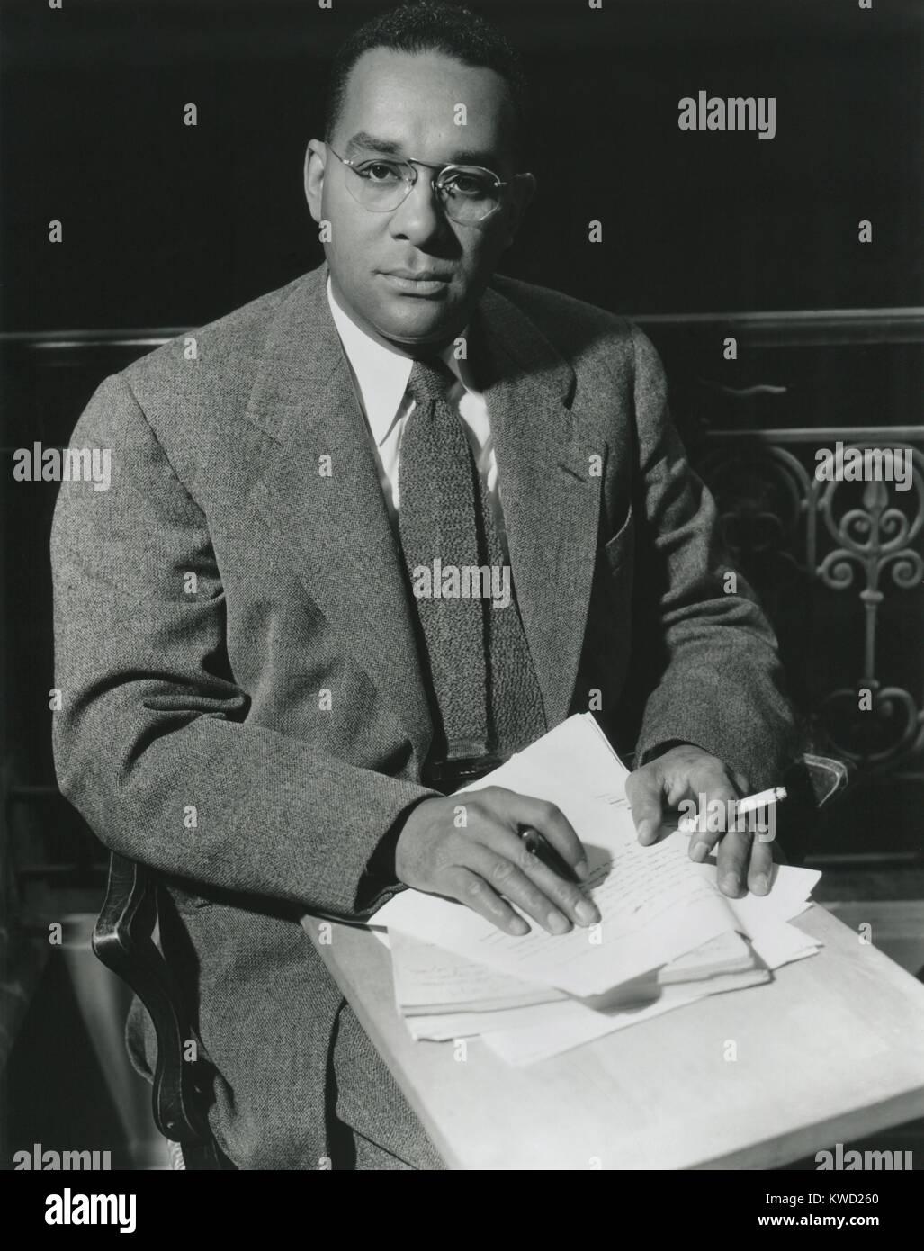 Richard Wright, fue el autor de hijo nativo (1940), la primera novela superventas por afro-americanos. Foto tomada Foto de stock