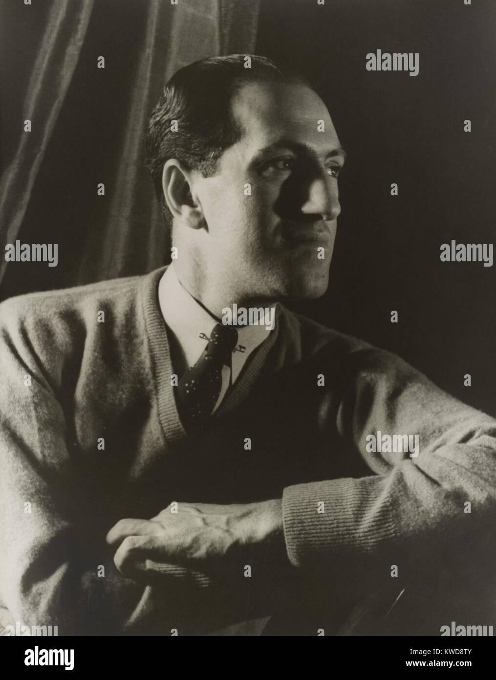 George Gershwin, compositor norteamericano, retrato de Carl Van Vechten, 28 de marzo de 1937. Su música ha aparecido Foto de stock