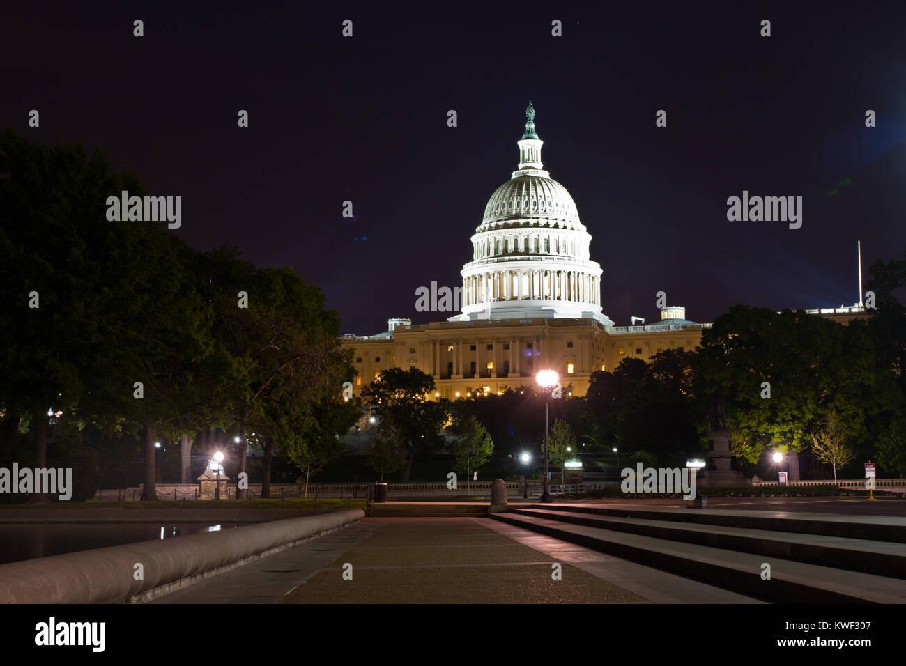 El edificio del Capitolio de los Estados Unidos, Washington DC, es el hogar del Congreso de los Estados Unidos, Imagen De Stock