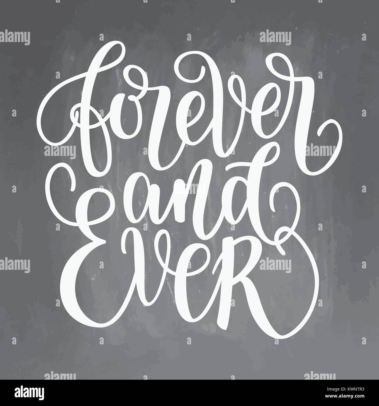 Por Siempre Y Para Siempre En Blanco Y Negro Las Letras Escritas A