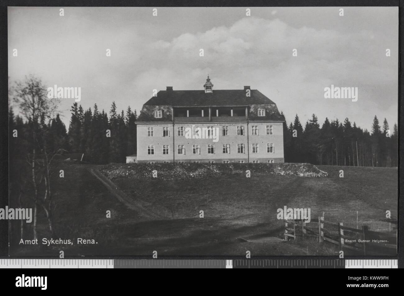 Åmot Sykehus, Rena - no-nb digifoto bldsa PK30011 00088 20150810 Foto de stock