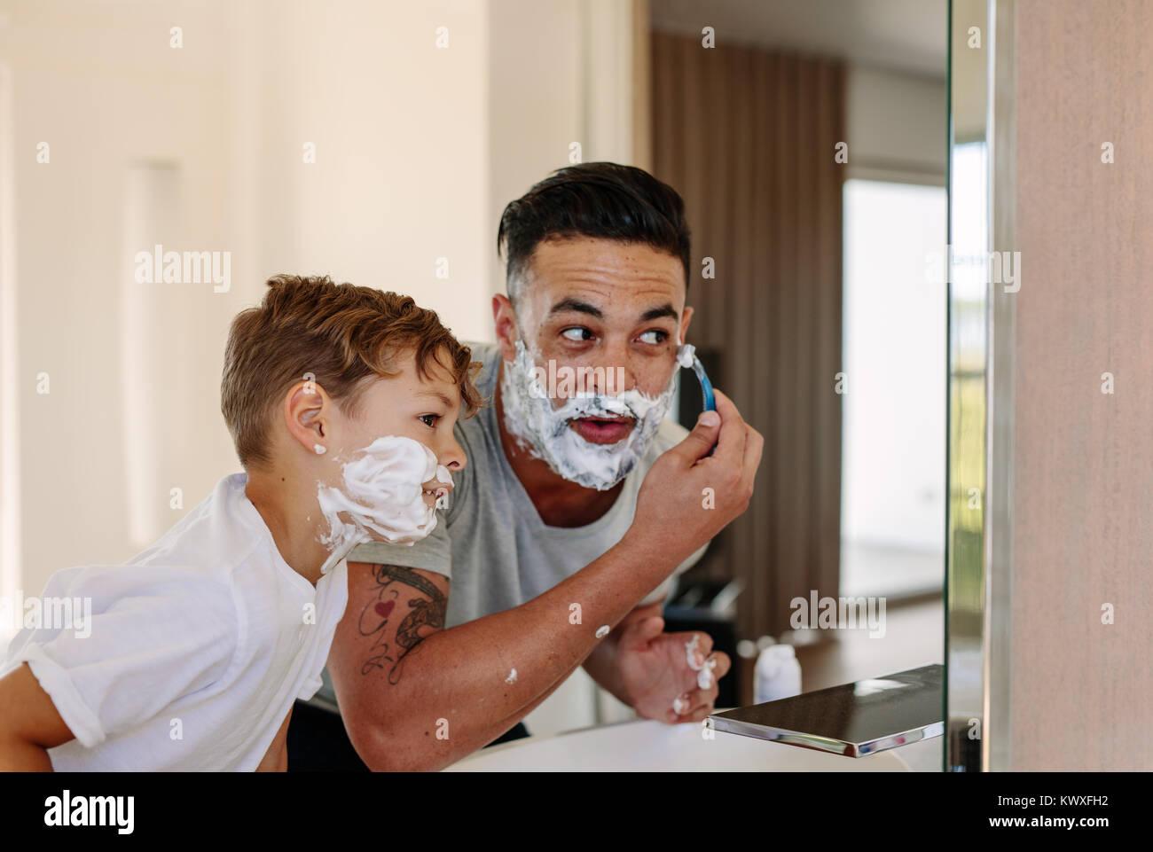 afeitado padre