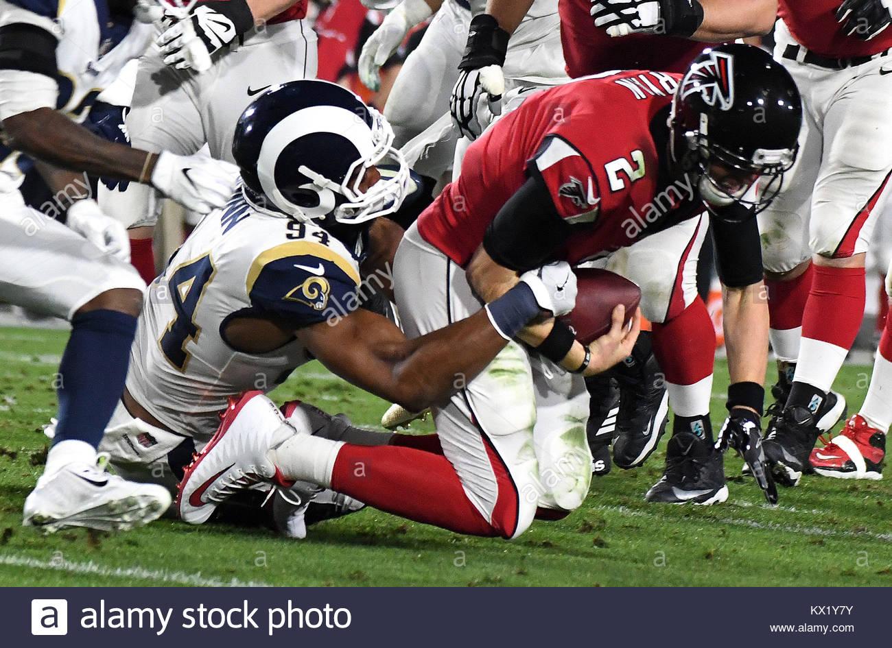Los Angeles California Eeuu 6 Ene 2018 Los Angeles Rams Fuera