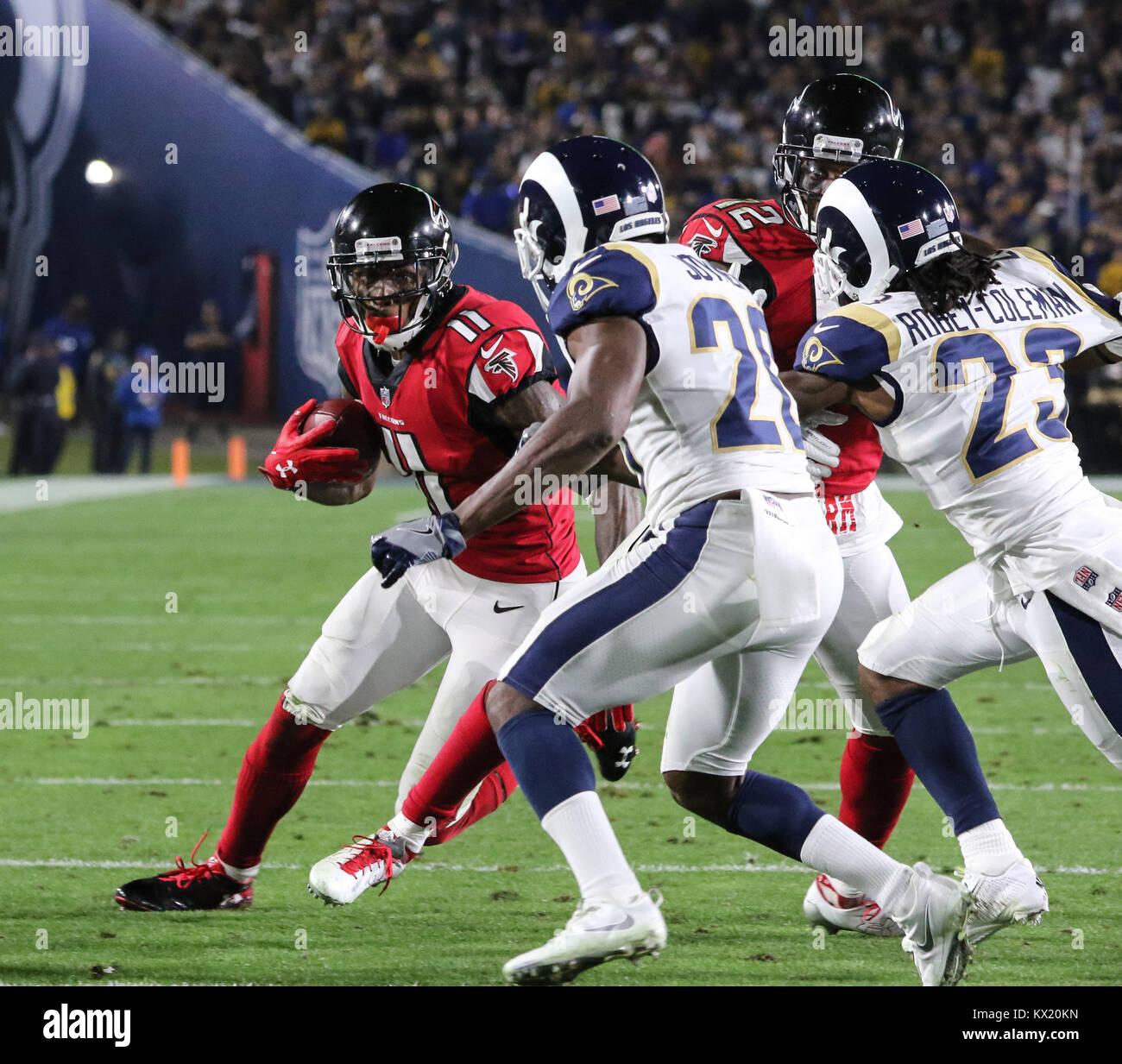 Los Angeles Ca Ee Uu 06th Ene 2018 Atlanta Falcons Amplia