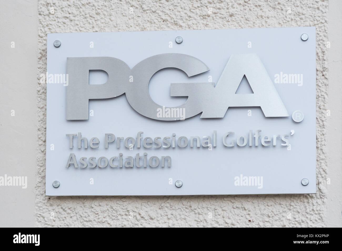 El PGA (Asociación de Golfistas Profesionales sede en Gleneagles, Escocia, Reino Unido Imagen De Stock