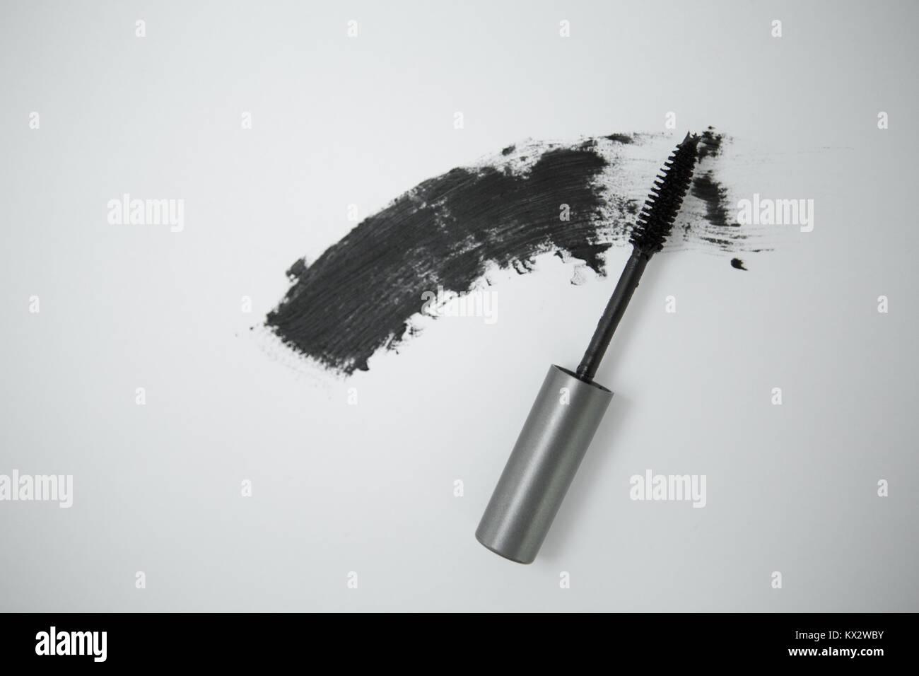 Cepillo de mascara negra. Imagen De Stock