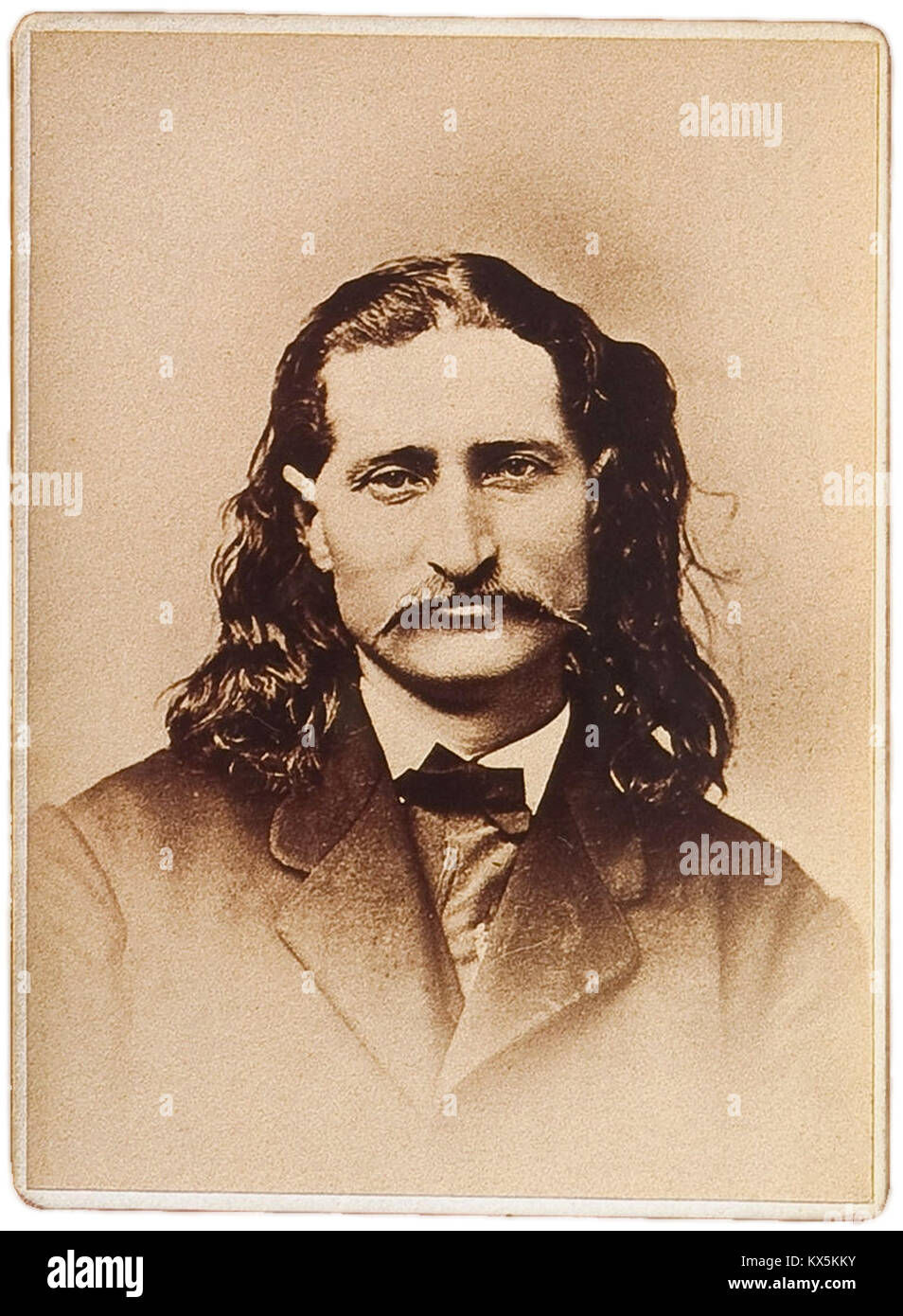 "James Butler Hickok, ""Wild Bill"" Hickok, James Hickok fue un héroe popular del Viejo Oeste Americano Imagen De Stock"