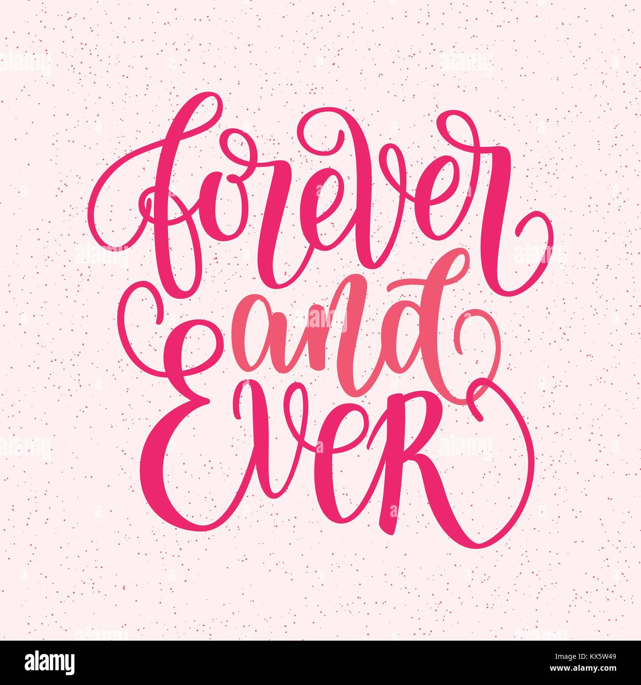 Por Siempre Y Para Siempre Las Letras Escritas A Mano Frase