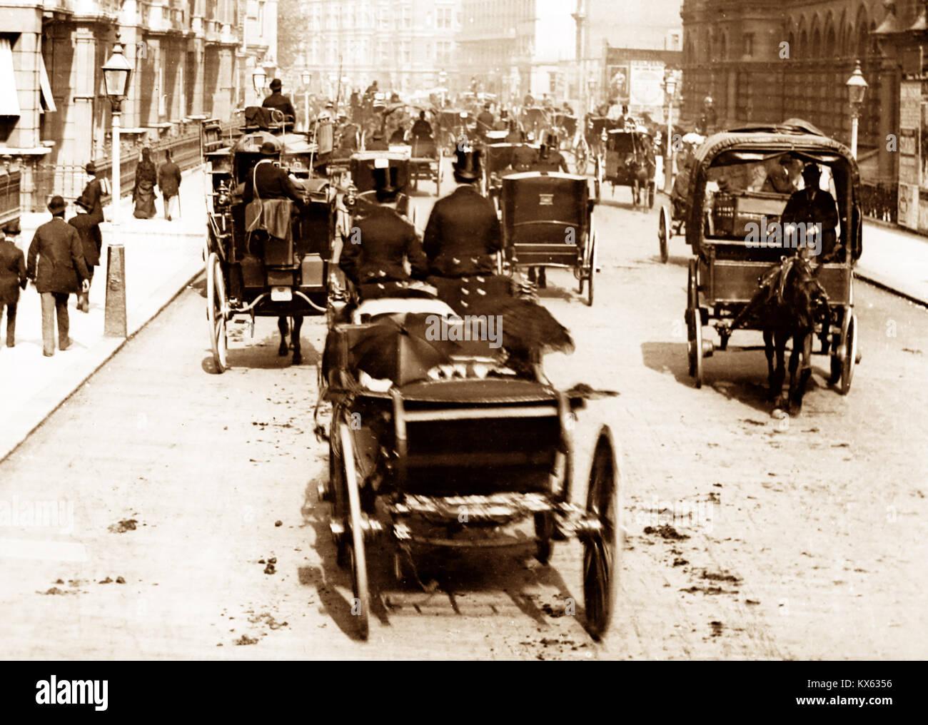Victoria Street, Londres, época victoriana Imagen De Stock