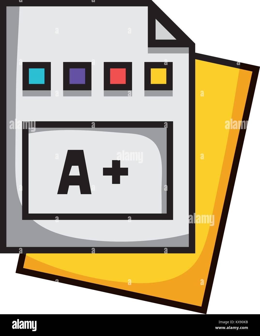 Calificación de educación escuela colegio certificado Imagen De Stock