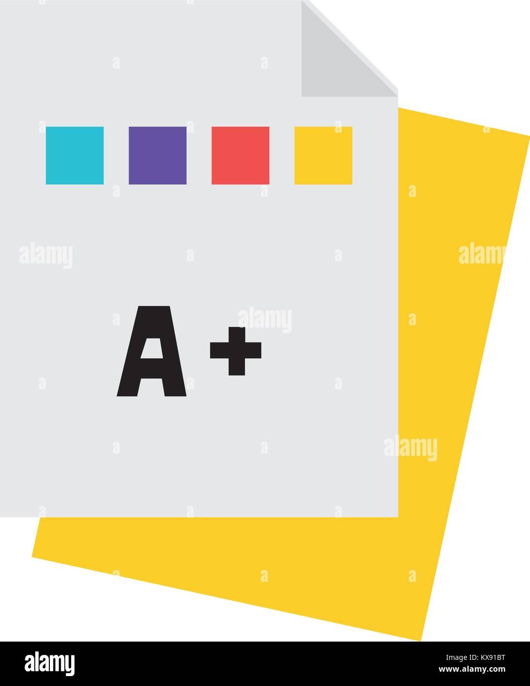 Cualificación de educación colorido certificado escolar college Imagen De Stock
