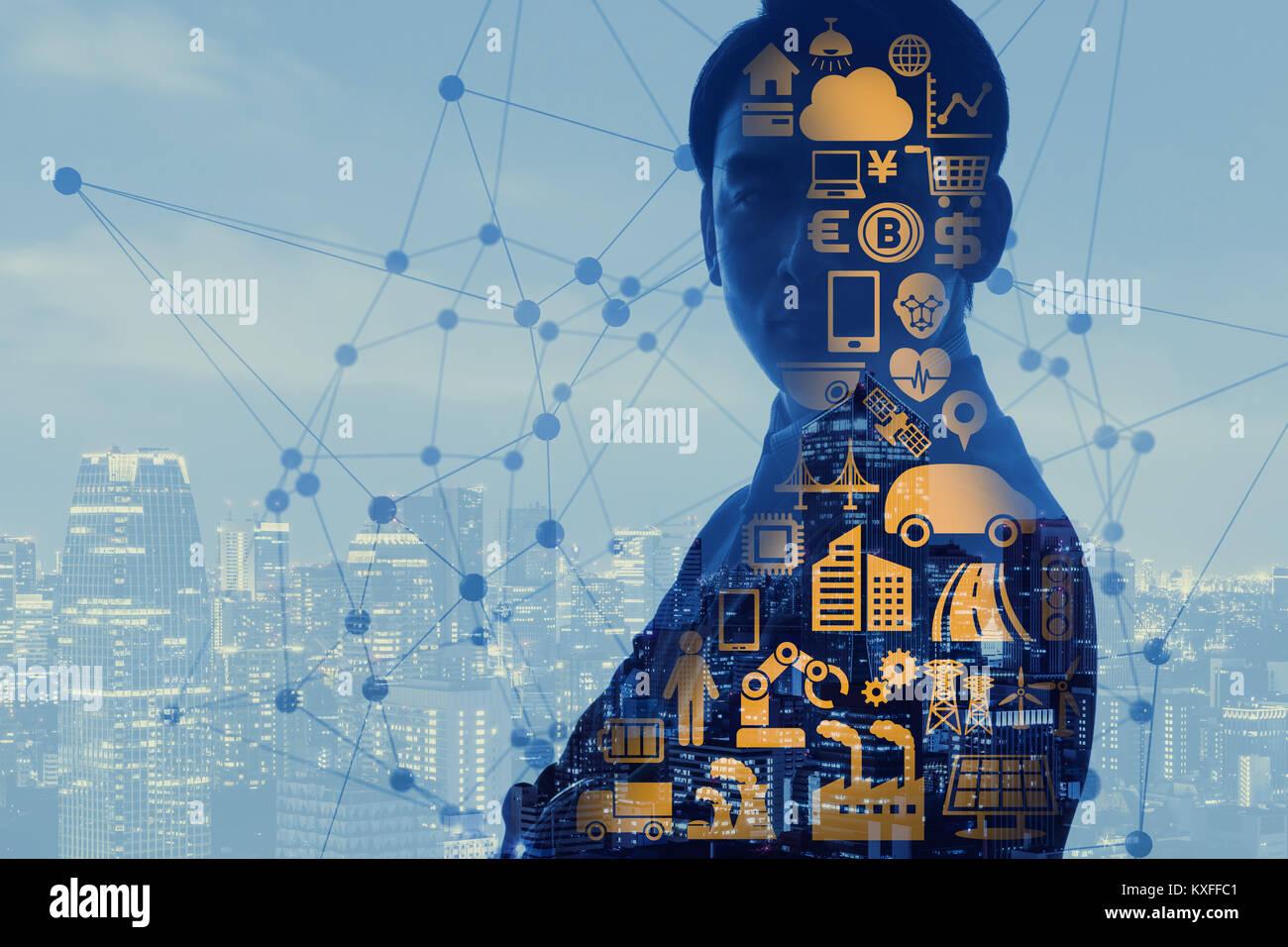 AI (Inteligencia Artificial) concepto. Imagen De Stock