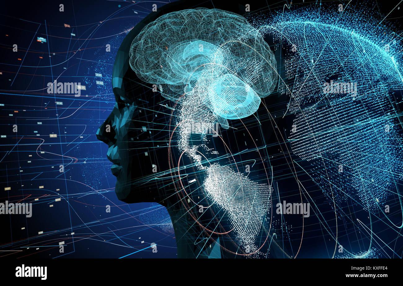 AI (Inteligencia Artificial) concepto. Foto de stock