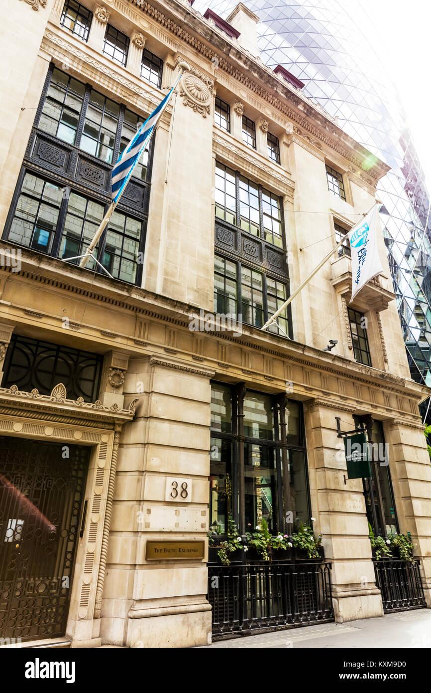 El Baltic Exchange de Londres, el Baltic Exchange es una organización de afiliación para la industria Imagen De Stock