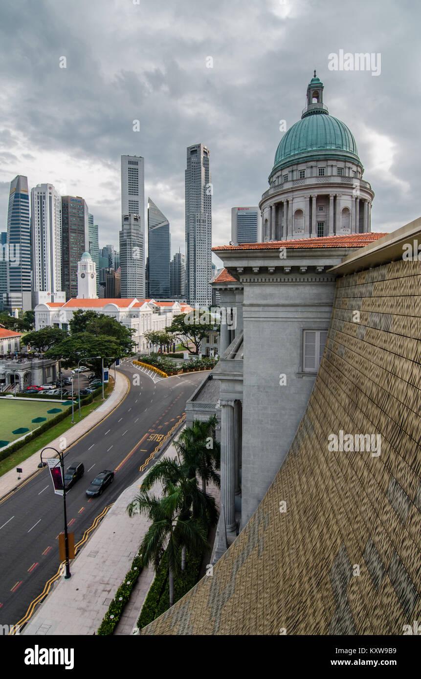 El Distrito Central De Negocios De Singapur Como Se Ve Desde