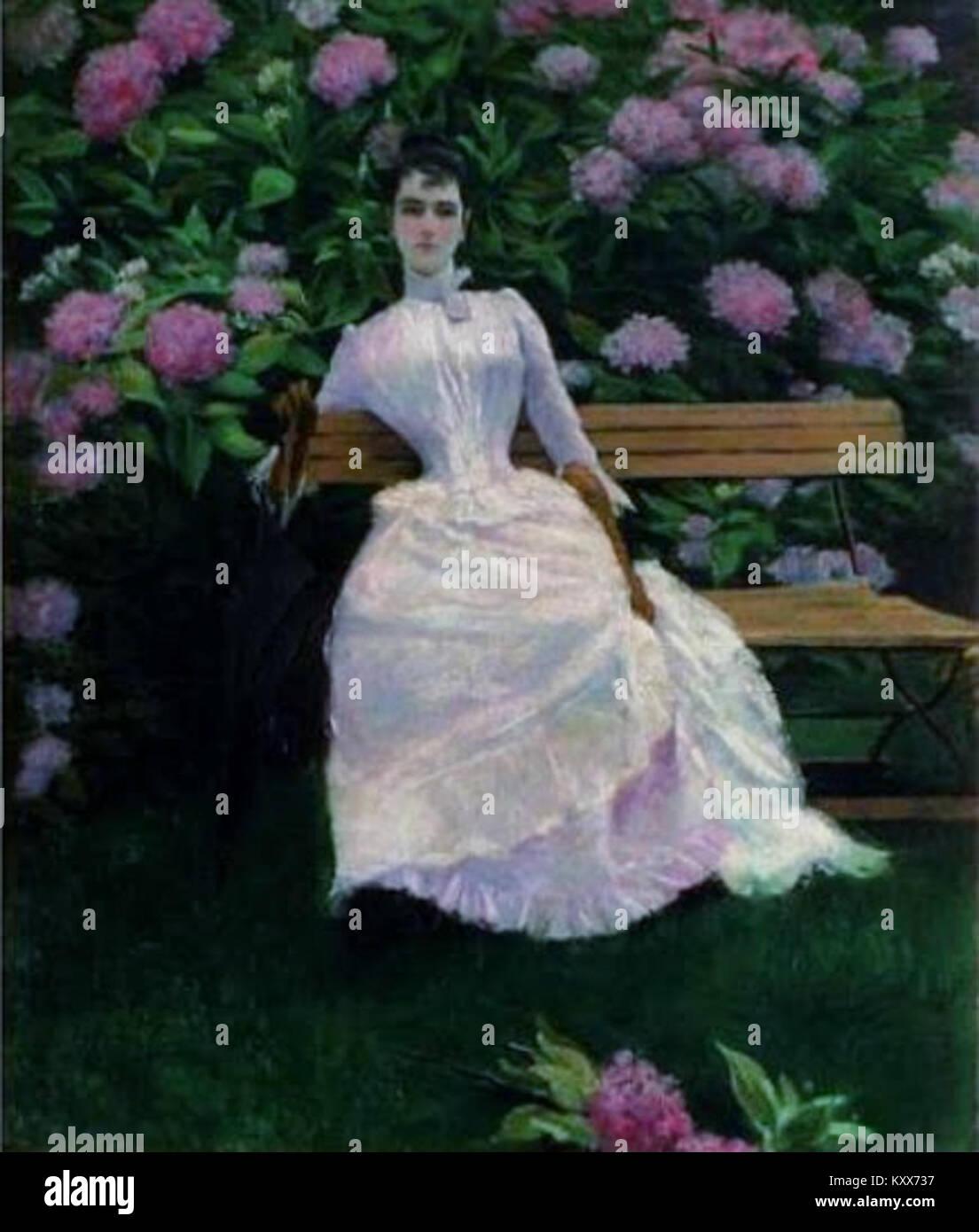 Errázuriz, José Tomás - Eugenia pintada por su marido -c1880 Imagen De Stock