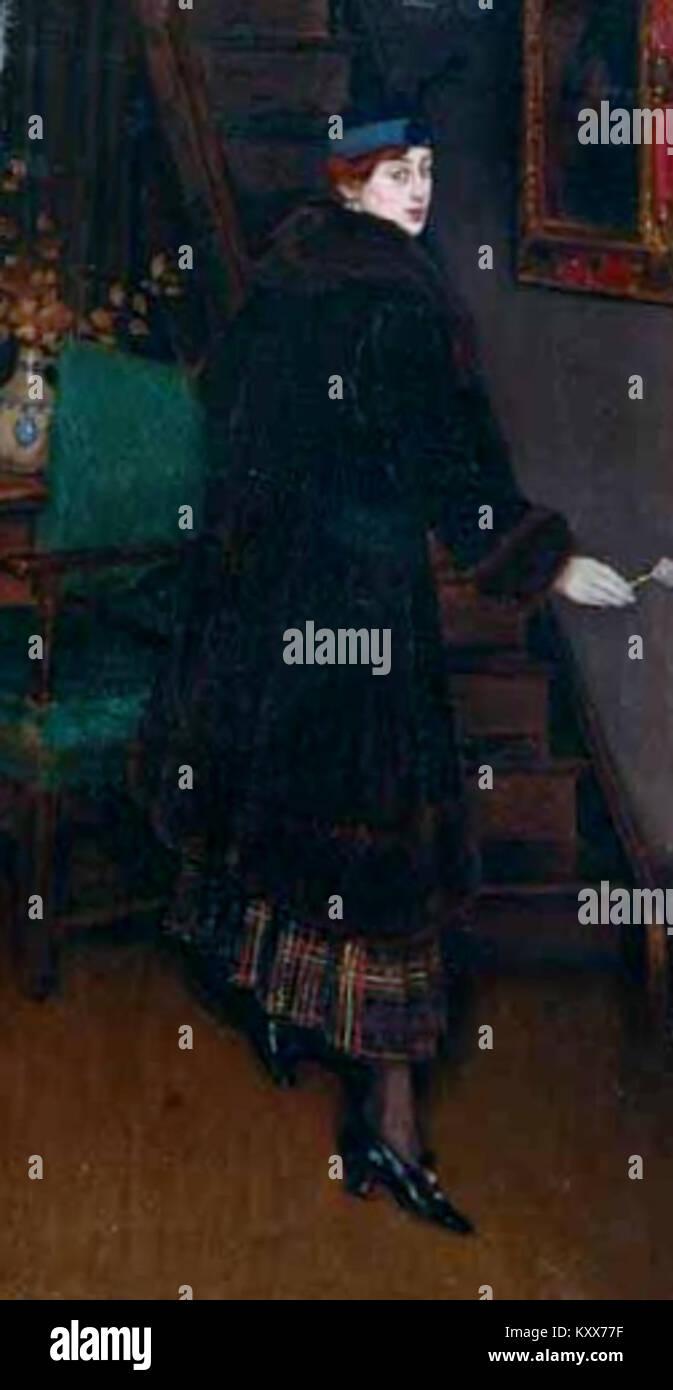 Errázuriz, José Tomás - Eugenia pintada por su marido -c1913 Imagen De Stock