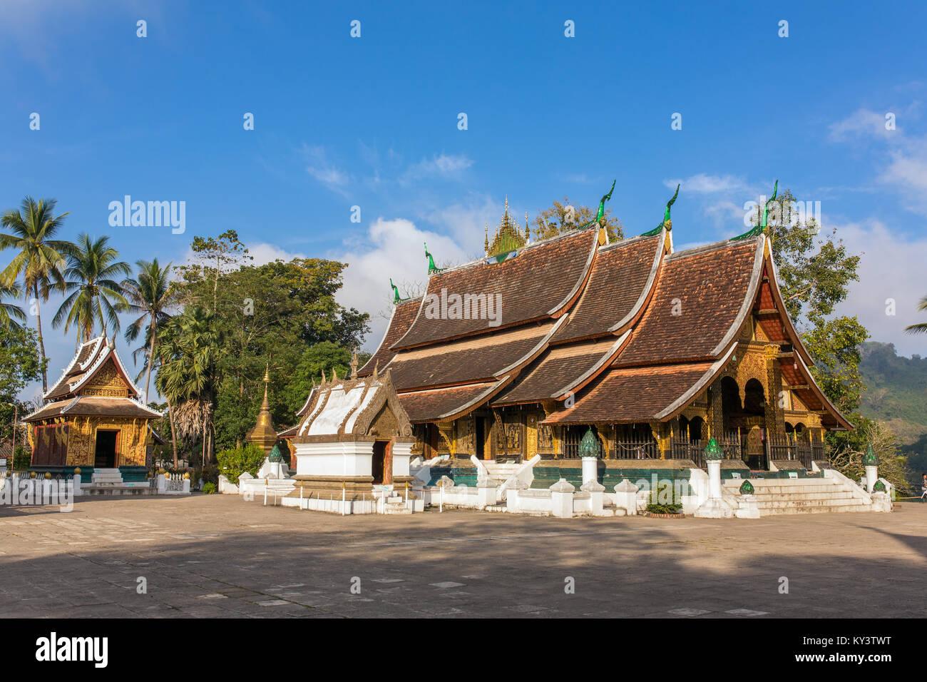 Templo Wat Xieng Thong, Luang Prabang, Laos Foto de stock