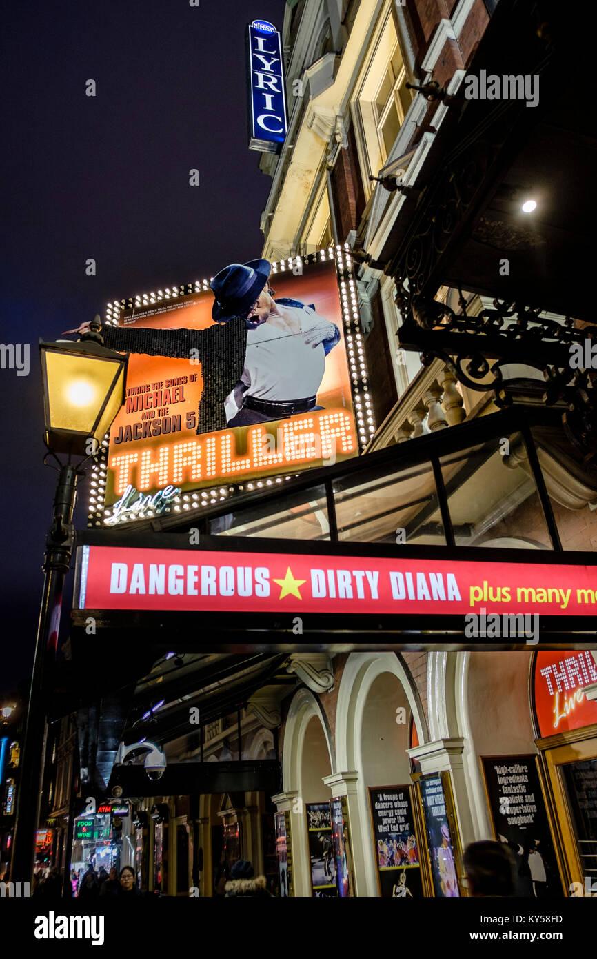 Thriller, el teatro lírico, Shaftesbury Avenue, London, UK Imagen De Stock