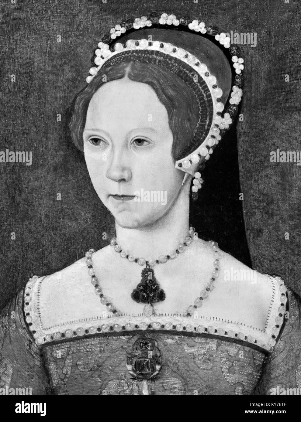 María I. retrato de la Reina María I de Inglaterra (1516-1558) Imagen De Stock