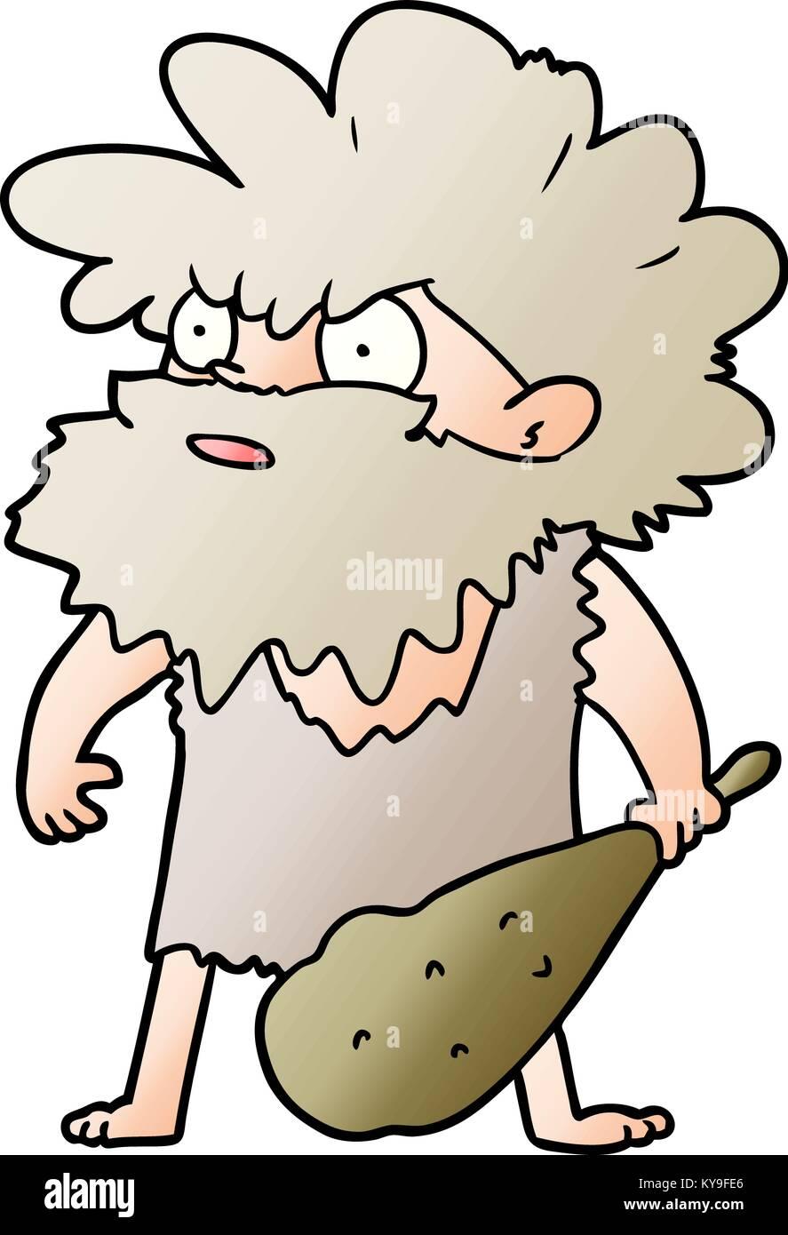 Hombre De Las Cavernas De Dibujos Animados Ilustración Del