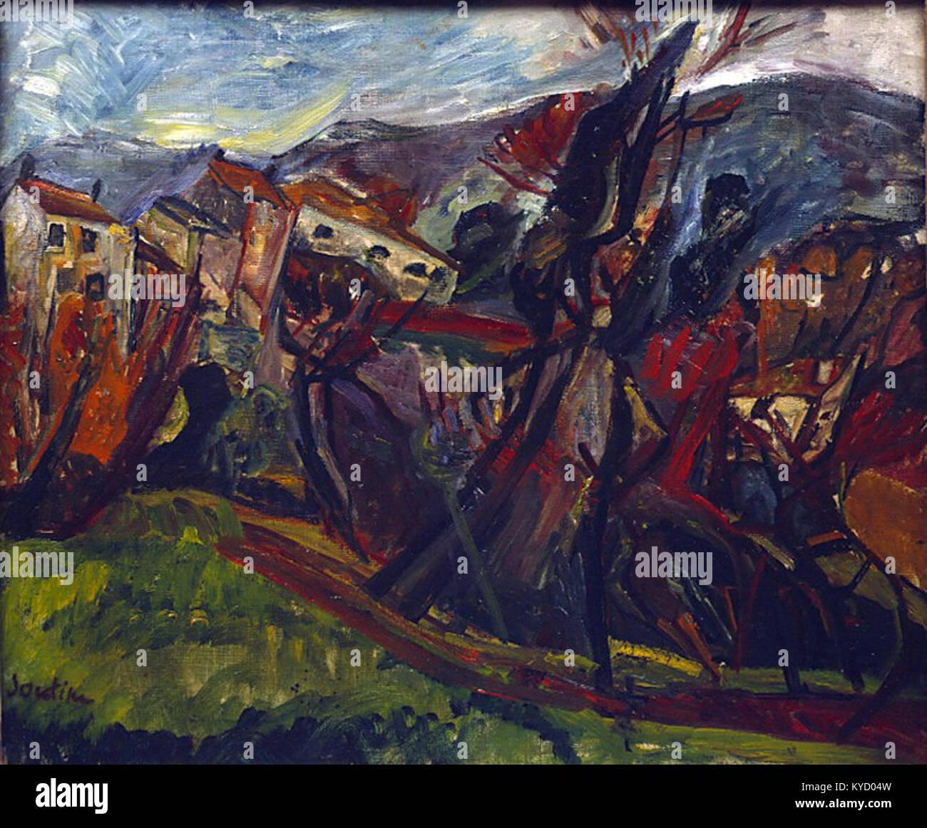 Paysage de Céret, Chaïm Soutine (1919) - Musée d'art et d'histoire du Judaïsme Foto de stock