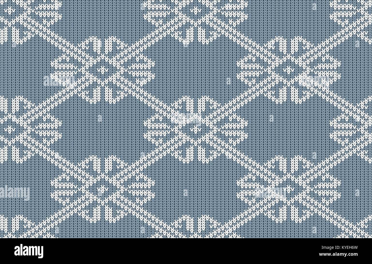 Estampado de punto noruego en vintage de color azul. Patrón de ...