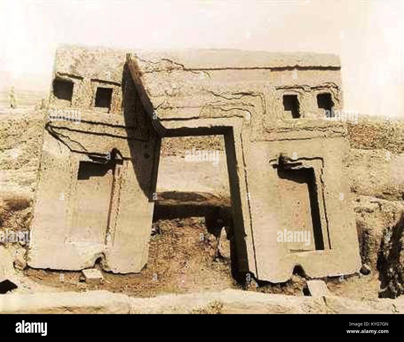 Puerta monolítica, vista de atras 1903-1904 Foto de stock