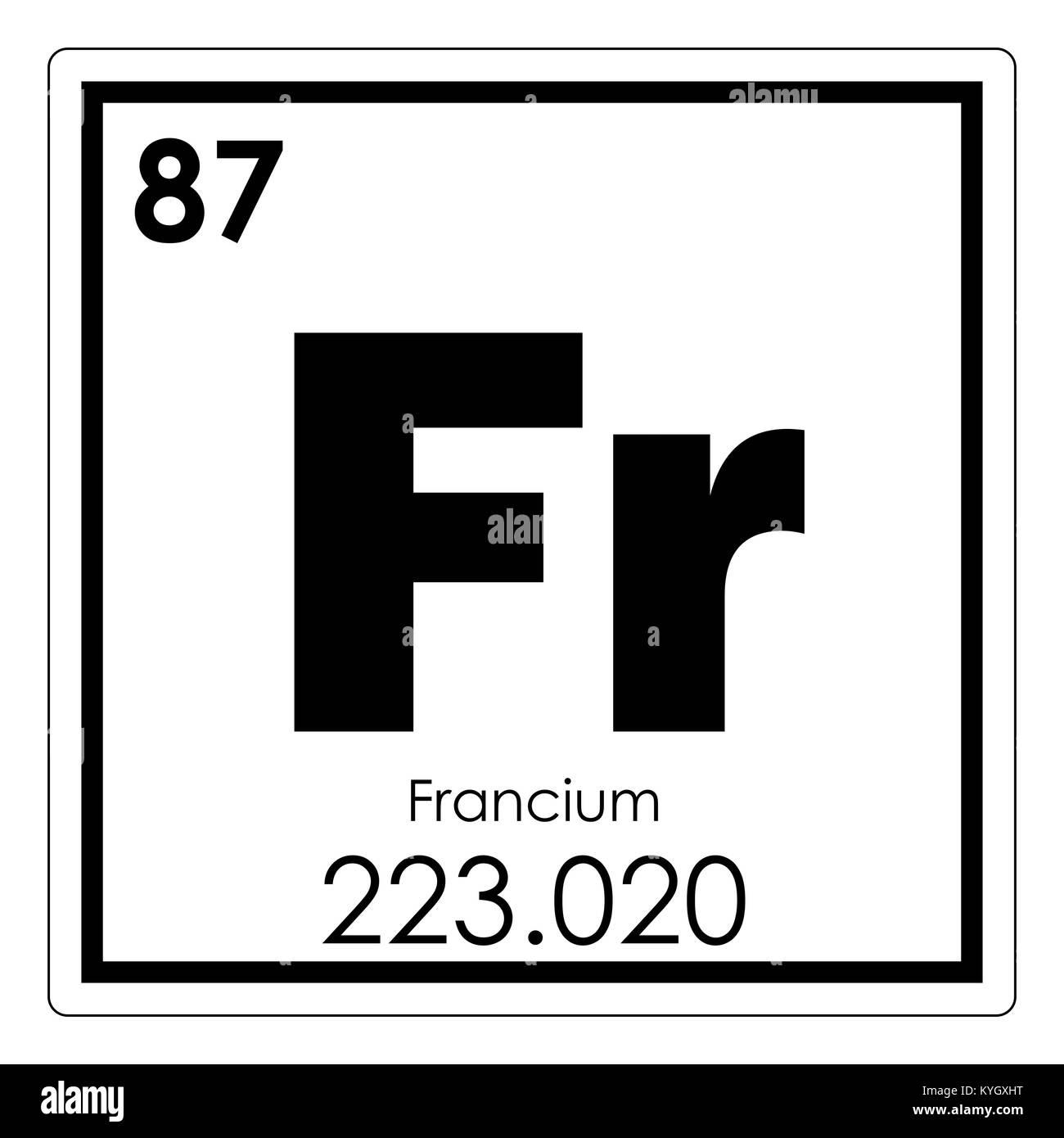Francio elemento qumico tabla peridica ciencia smbolo foto francio elemento qumico tabla peridica ciencia smbolo urtaz Images