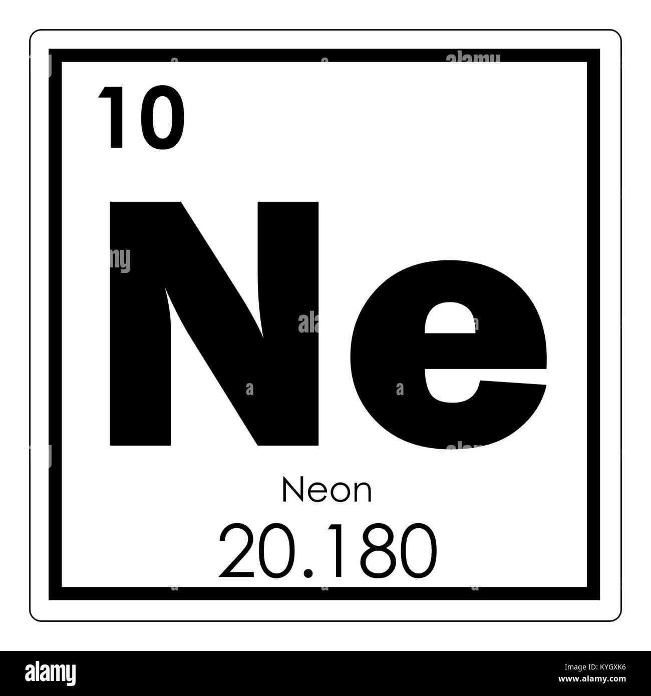 tabla peridica de elementos qumicos de nen smbolo de ciencia
