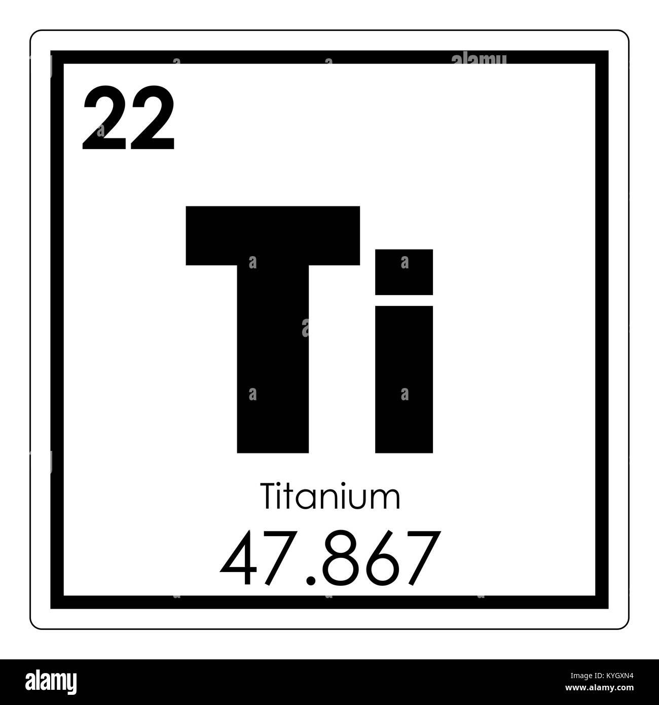 Tabla peridica de elementos qumicos de titanio smbolo de ciencia tabla peridica de elementos qumicos de titanio smbolo de ciencia urtaz Images