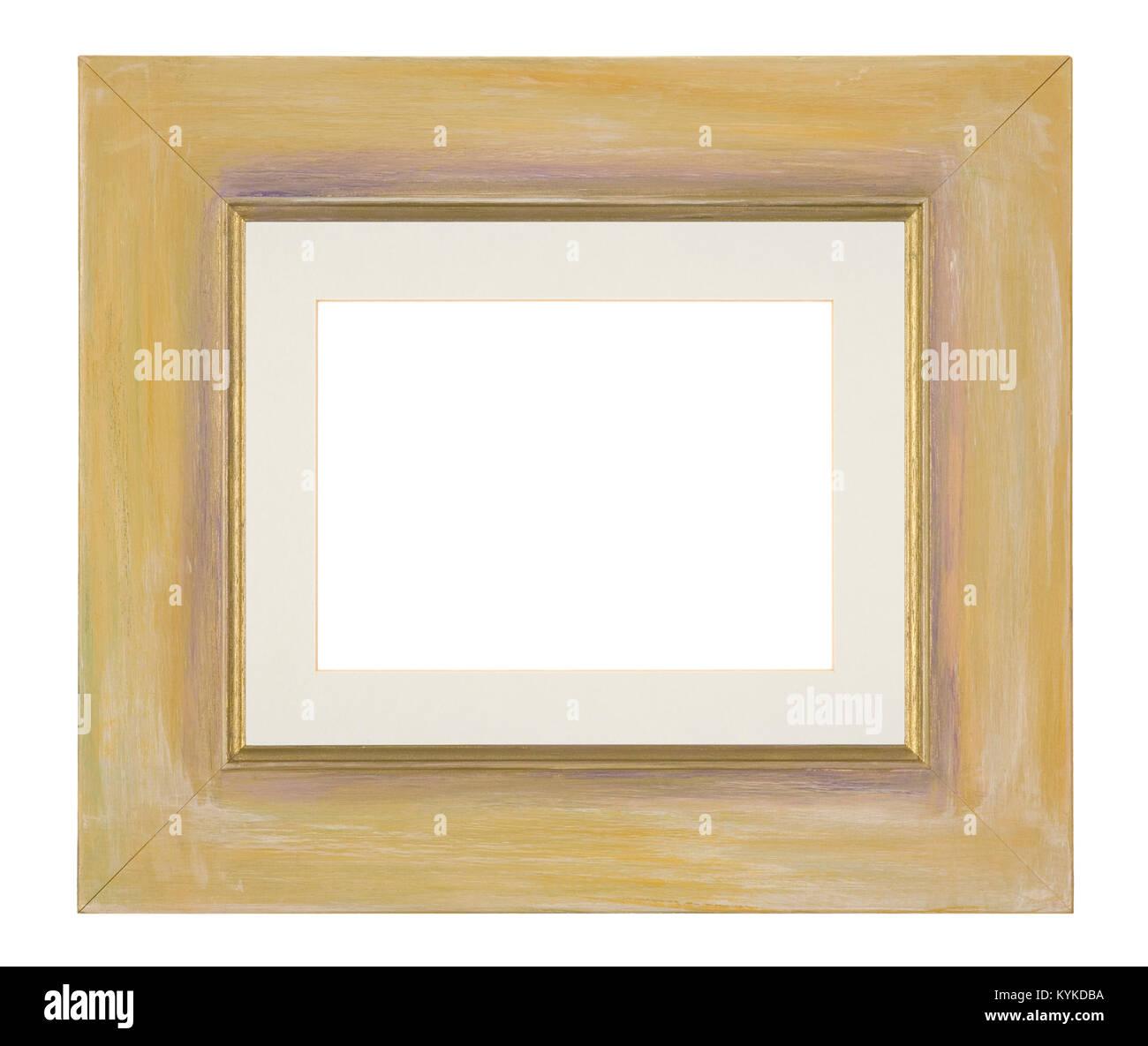 Marco de imagen vacío, pintados a mano moldura amarilla Foto ...