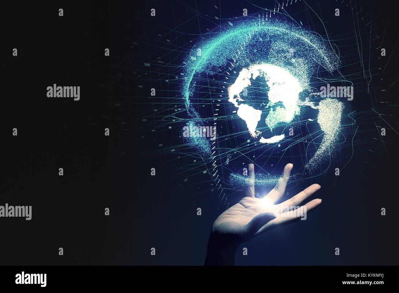 El concepto de red mundial. Imagen De Stock