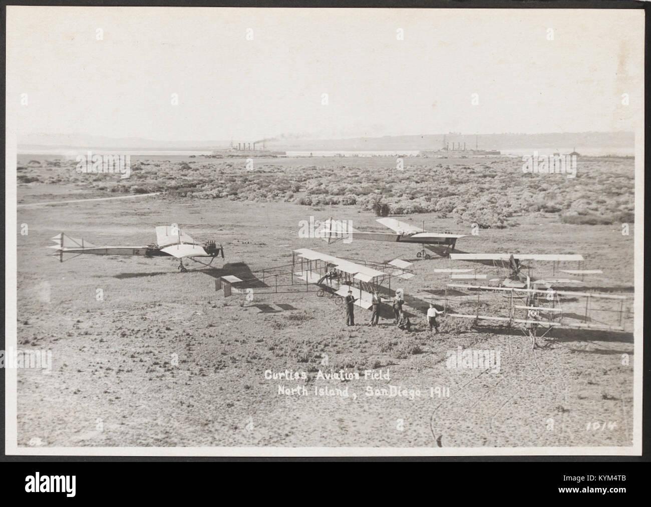 Campo de Aviación Curtiss North Island, San Diego 1911 35595438294 o Foto de stock