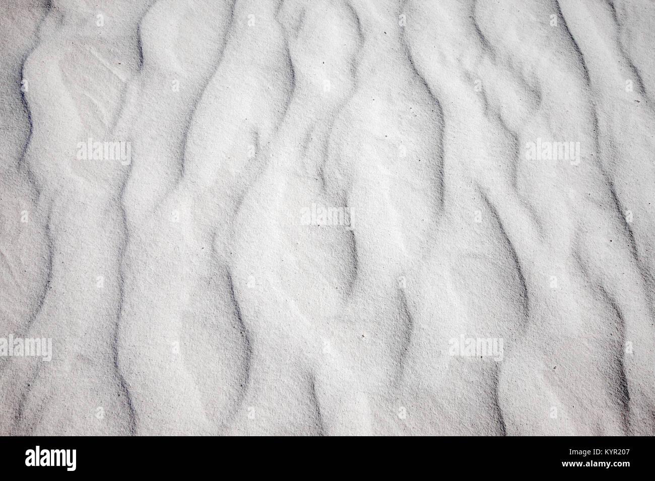 Cerca de patrones de arena de las dunas, White Sands, Nuevo Mexico Monument nacional Imagen De Stock