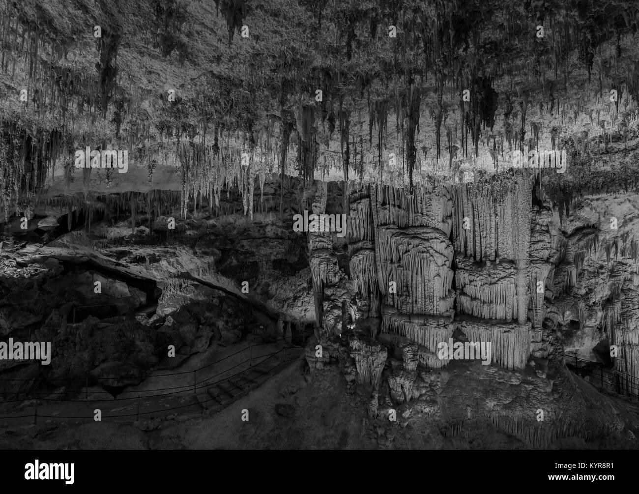 Capo Caccia, Grotte di Nettuno, Cerdeña Foto de stock