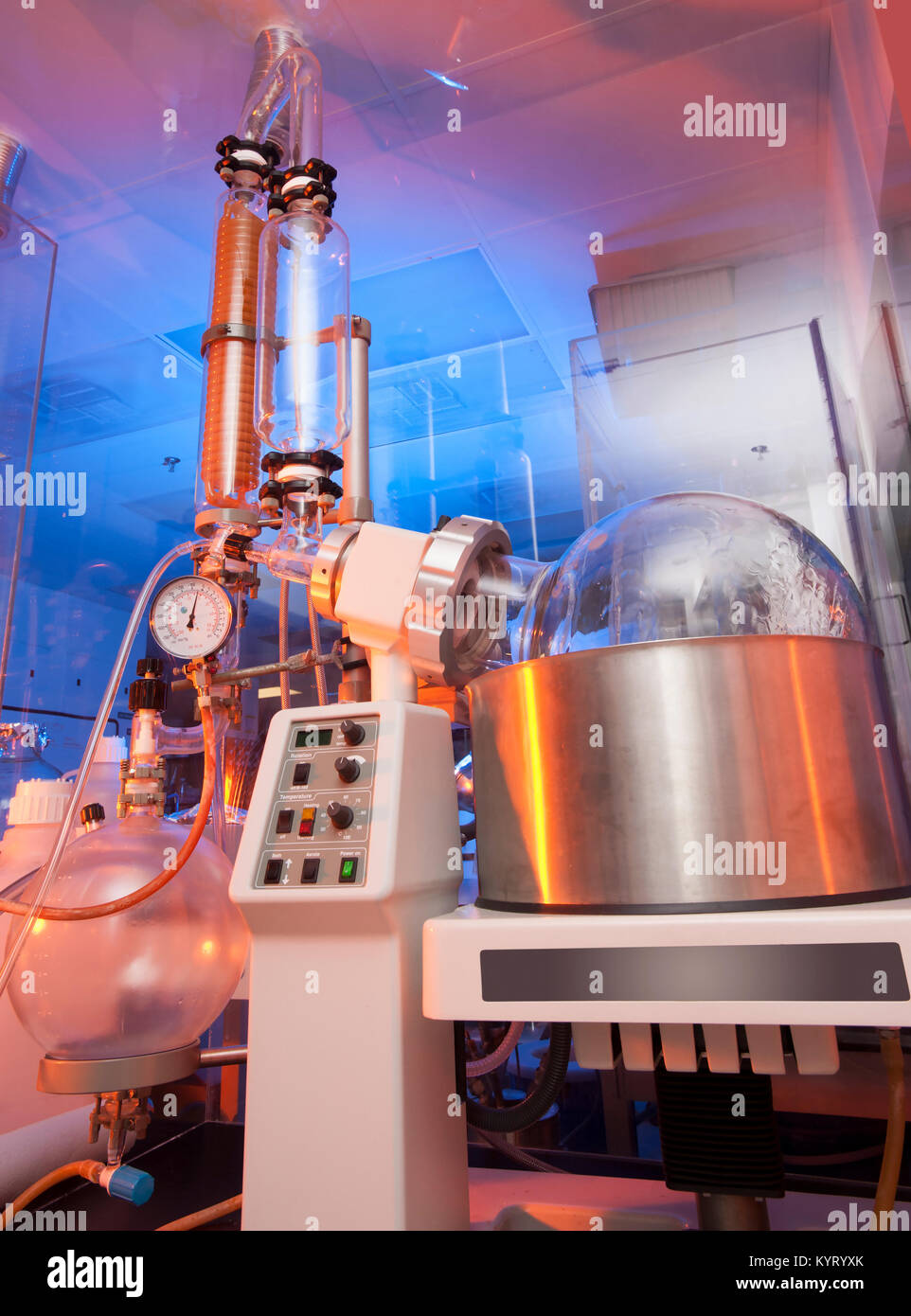 Química y biología médica investigación laboratorio cristalería Imagen De Stock