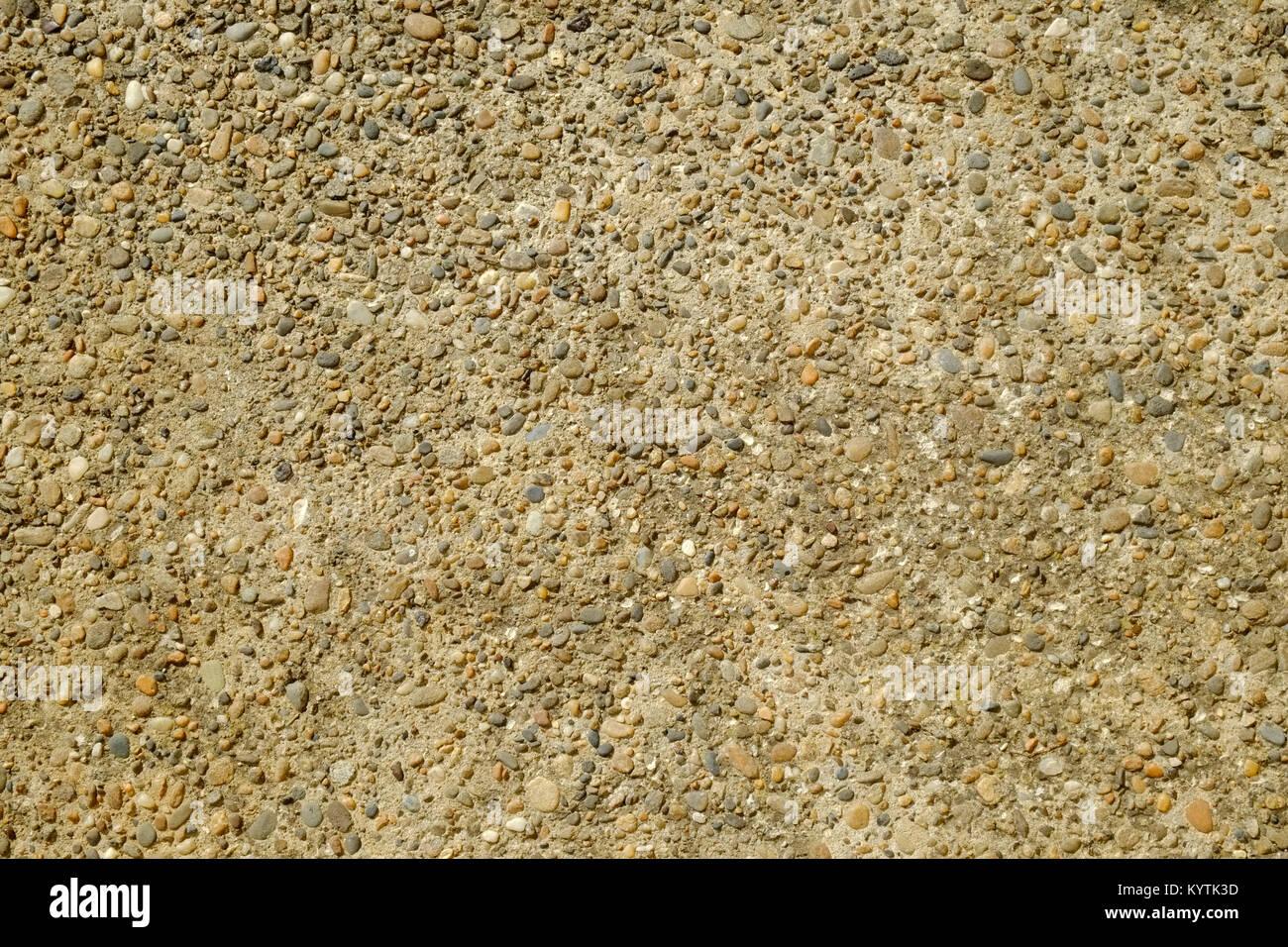 Ruta de hormigón pulido de fotograma completo expuesto textura grava agregada Imagen De Stock