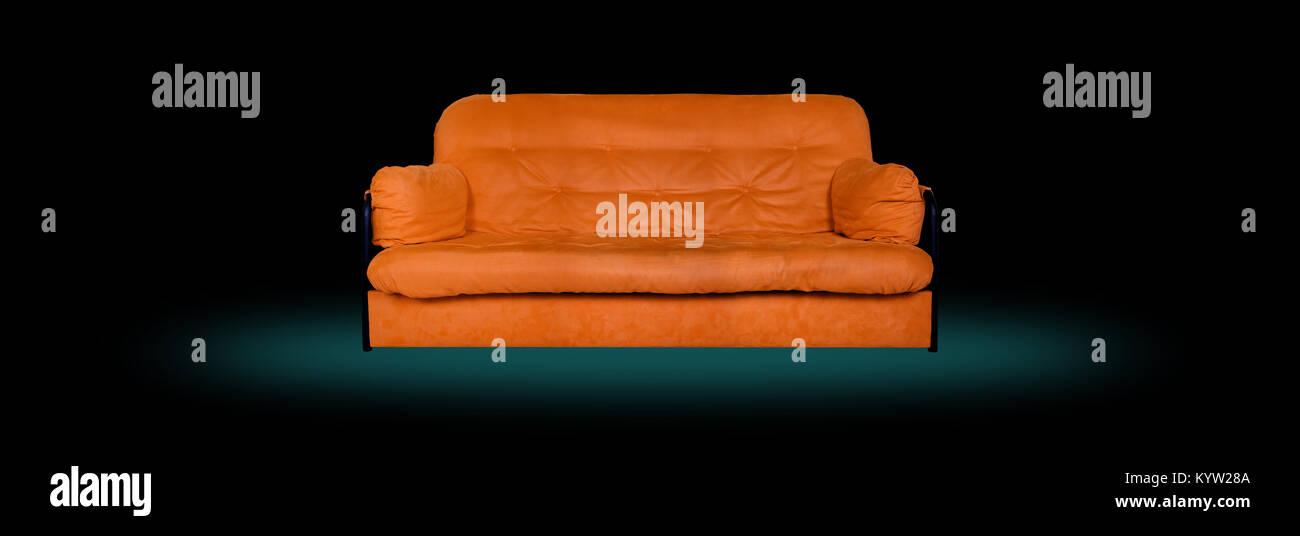Muebles Tapizados - Orange modern hechas de tela del sofá cama sobre ...